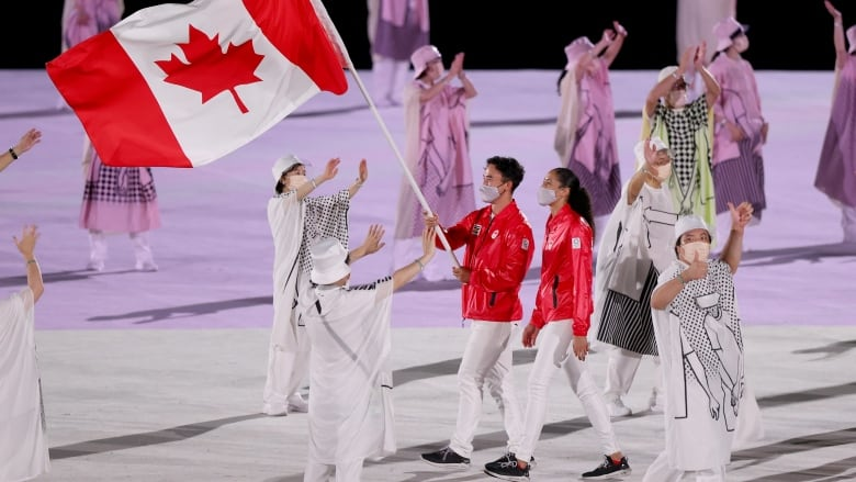 The arrival of the Team Canada's athletes