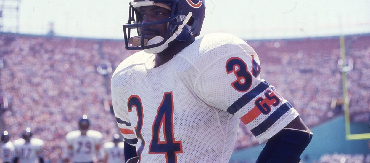 History of Walter Payton the first NFL player in 1986
